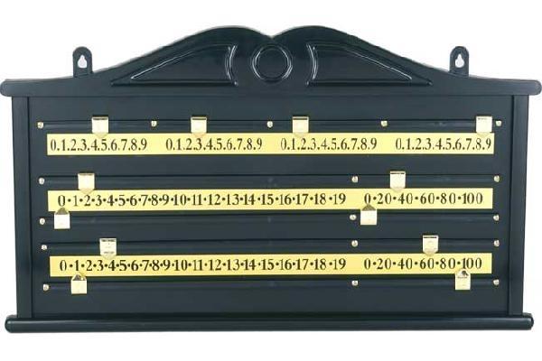 Snooker Scoreboard Black Plastic Suomen Biljardikauppa Oy