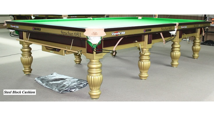 Shender Golden Prince Snooker Table Ft Steel Block - Pool table wraps