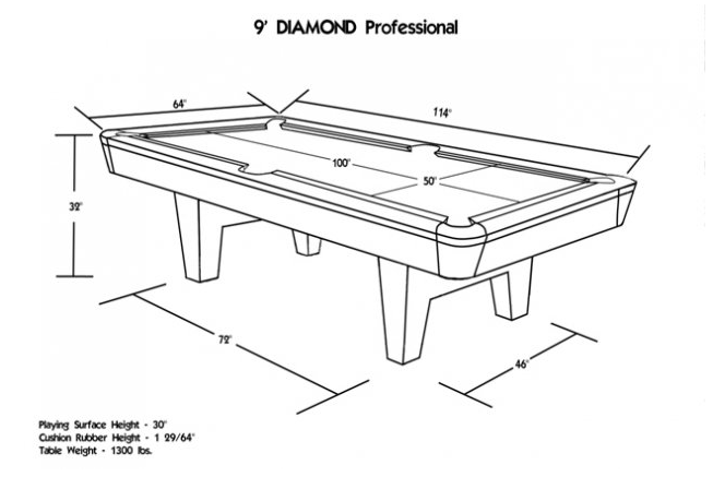 Diamond Professional 9 180 Pool Table Oak Black Liquer