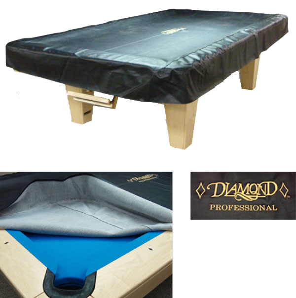 225 & Diamond pool table cover leather black