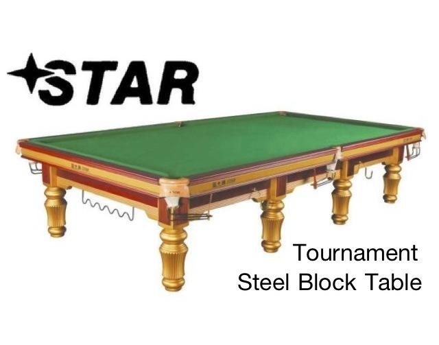 Star Snooker Table Ft Steel Block - Star pool table
