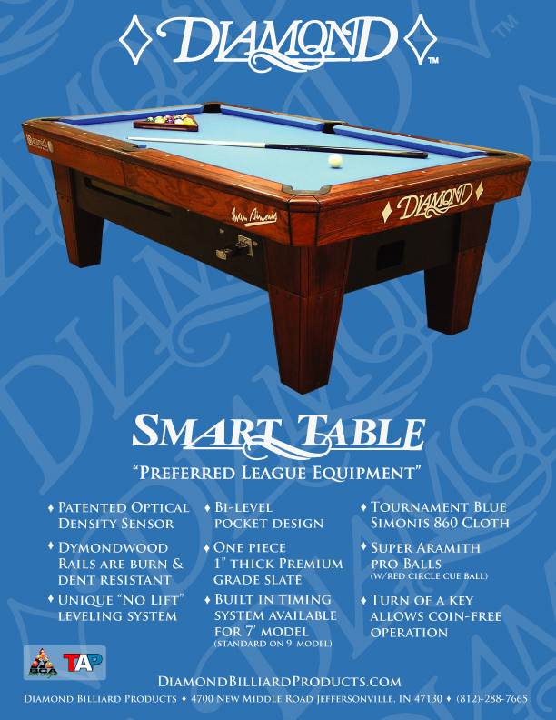 pro pool am table diamond