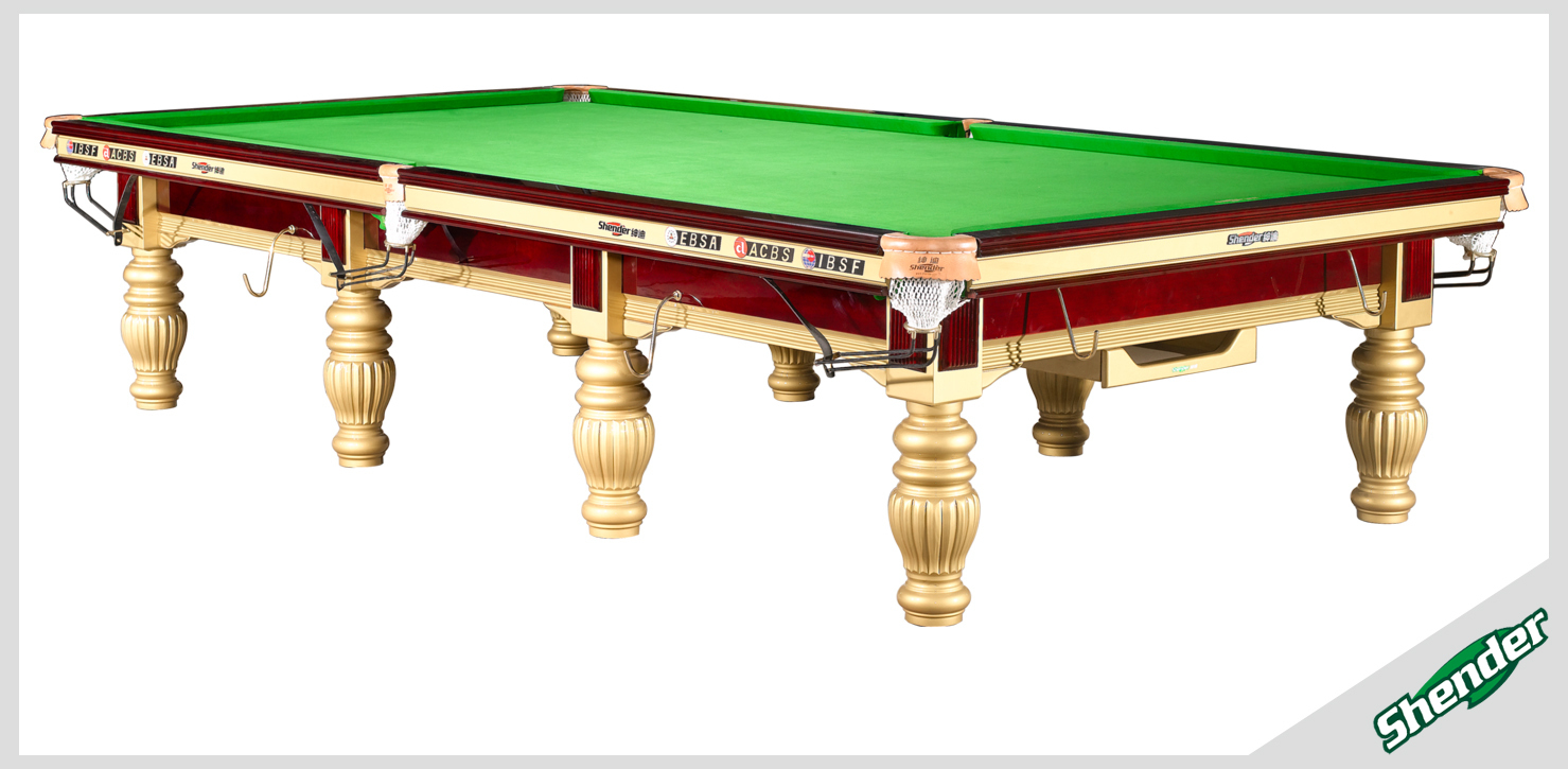 Shender golden prince snooker table 12 ft steel block for 12 by 12 table